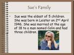 sue s family