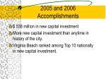 2005 and 2006 accomplishments14