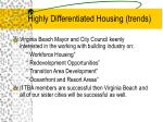 highly differentiated housing trends