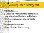 marketing plan strategy cont