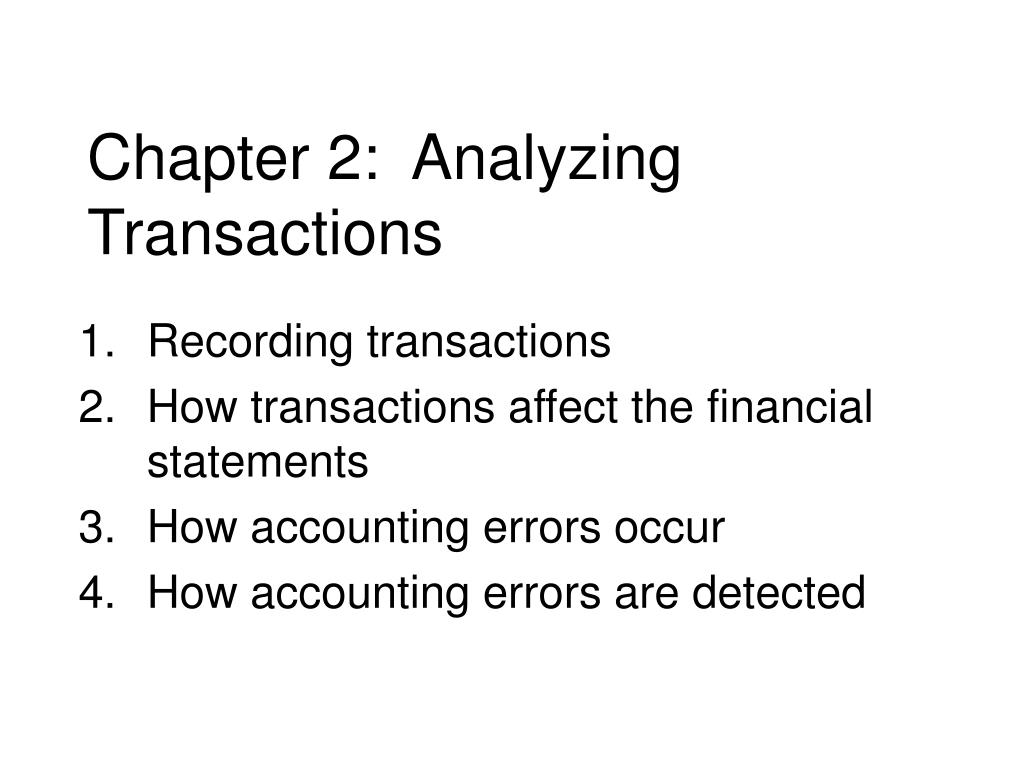 chapter 2 analyzing transactions l.