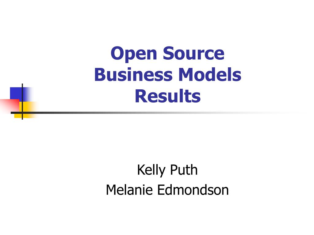 open source business models results l.