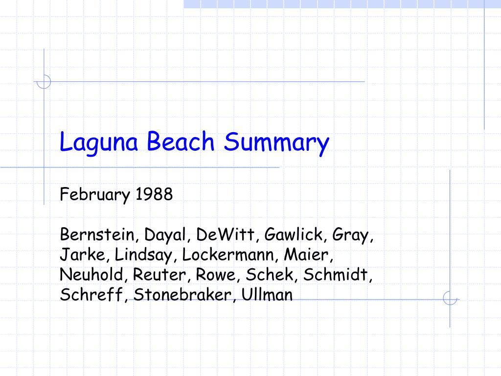 laguna beach summary l.