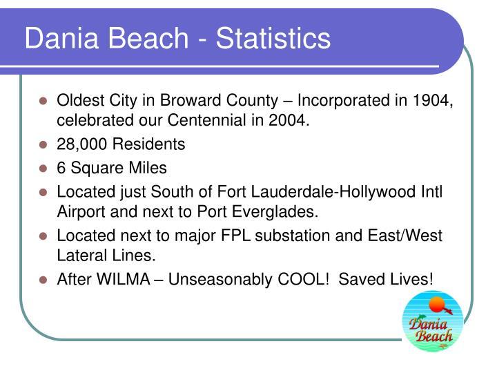 Dania beach statistics