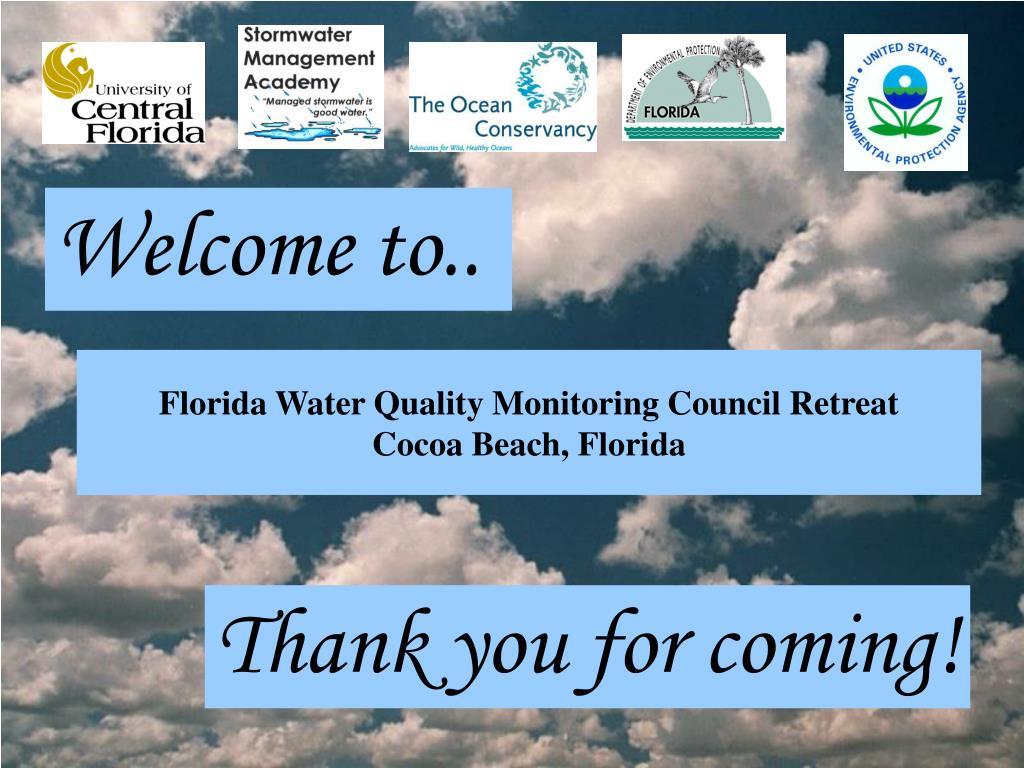 florida water quality monitoring council retreat cocoa beach florida l.