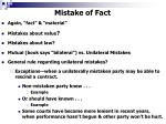 mistake of fact