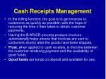 cash receipts management