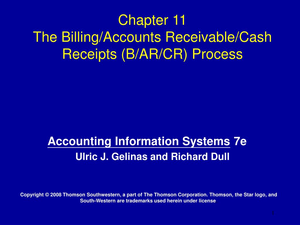 chapter 11 the billing accounts receivable cash receipts b ar cr process l.