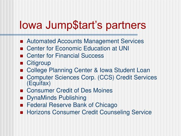 Iowa jump tart s partners