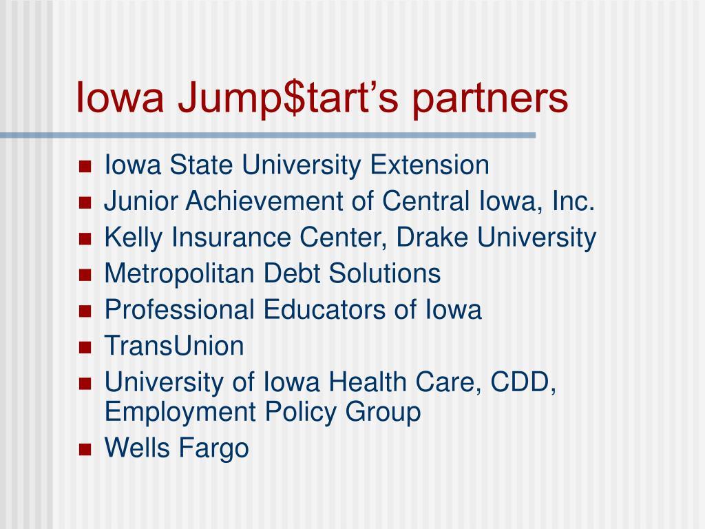 Iowa Jump$tart's partners