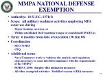 mmpa national defense exemption