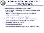 rimpac environmental compliance