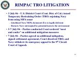rimpac tro litigation