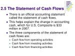 2 5 the statement of cash flows