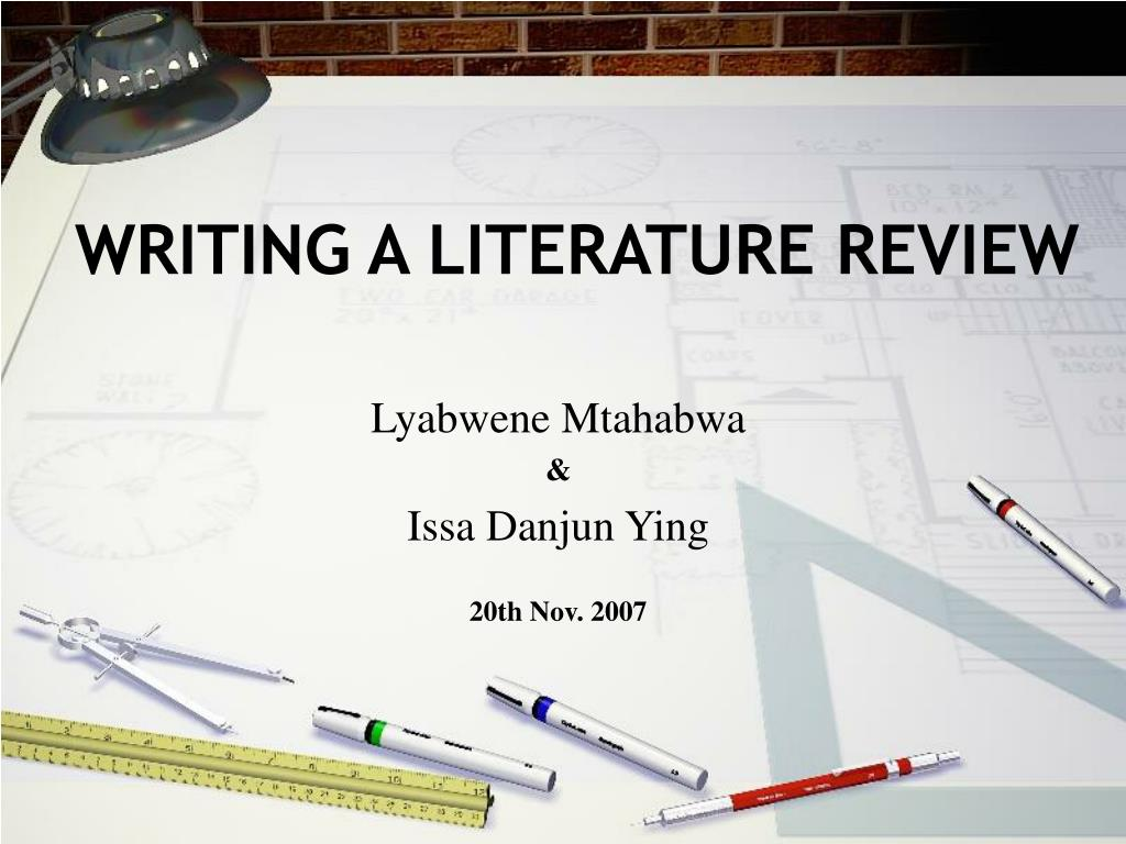 writing a literature review l.