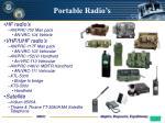 portable radio s