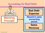 accounting for bad debts25