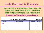credit card sales to consumers6