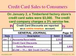credit card sales to consumers7
