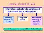 internal control of cash