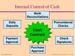 internal control of cash58