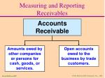 measuring and reporting receivables