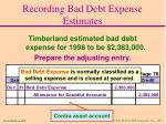 recording bad debt expense estimates28