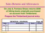 sales returns and allowances18