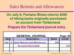 sales returns and allowances19