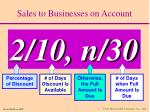 sales to businesses on account10