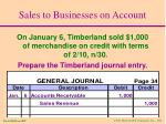 sales to businesses on account12