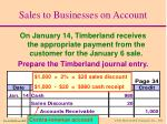 sales to businesses on account14