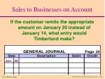 sales to businesses on account15