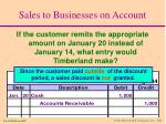 sales to businesses on account16