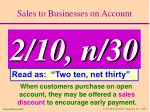sales to businesses on account9