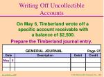 writing off uncollectible accounts31