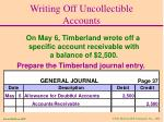 writing off uncollectible accounts32