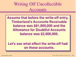 writing off uncollectible accounts33