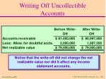 writing off uncollectible accounts34
