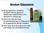 broken glassware