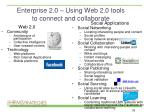 enterprise 2 0 using web 2 0 tools to connect and collaborate