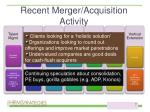 recent merger acquisition activity7