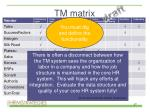 tm matrix