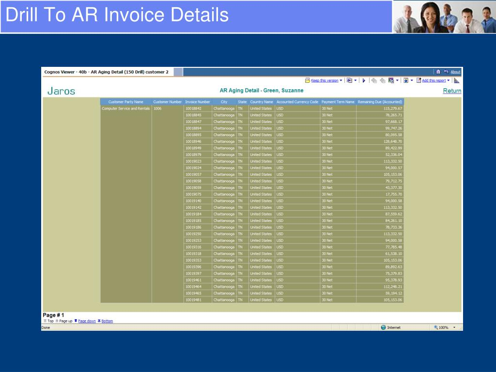 Drill To AR Invoice Details