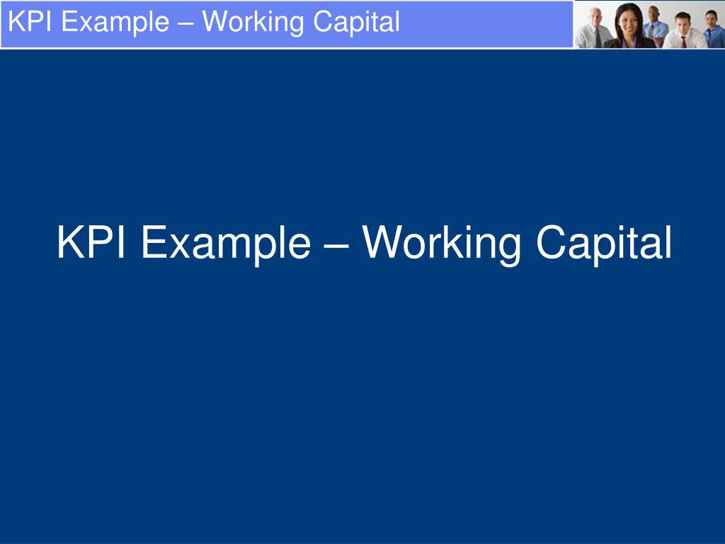 KPI Example – Working Capital