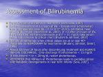 assessment of bilirubinemia