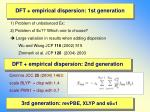 dft empirical dispersion 1st generation26