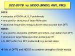 scc dftb vs nddo mndo am1 pm3