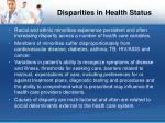 disparities in health status