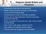 hispanic health beliefs and practices